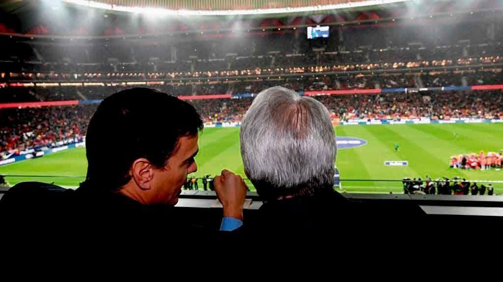 Sánchez asiste al partido entre Atlético de Madrid y Barcelona acompañado por Nancy Pelosi y mandatarios de diez países