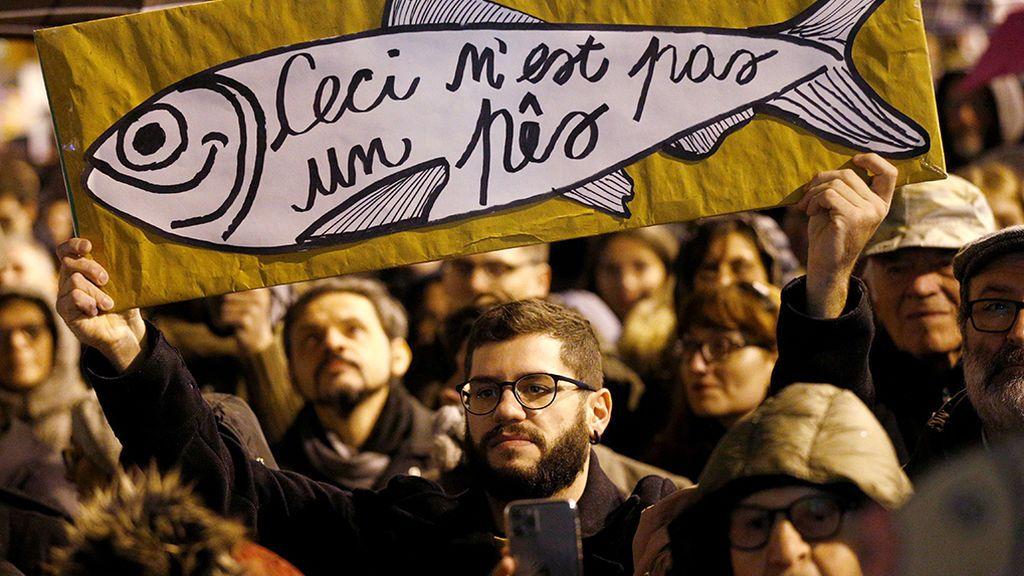 Movimiento de 'las sardinas' contra Salvini en Italia