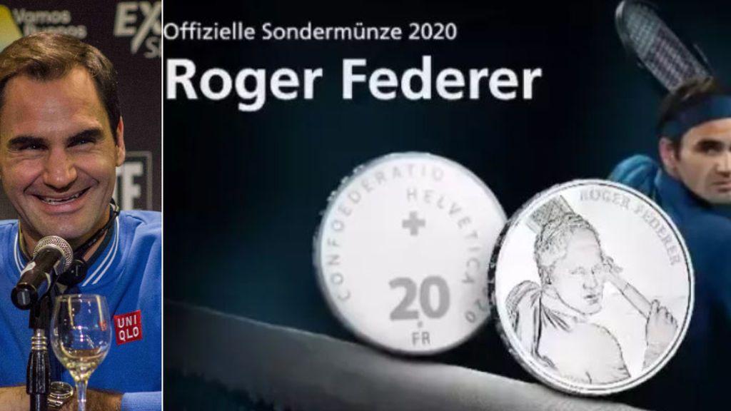 Suiza homenajea a Roger Federer acuñando monedas de oro y plata con su rostro