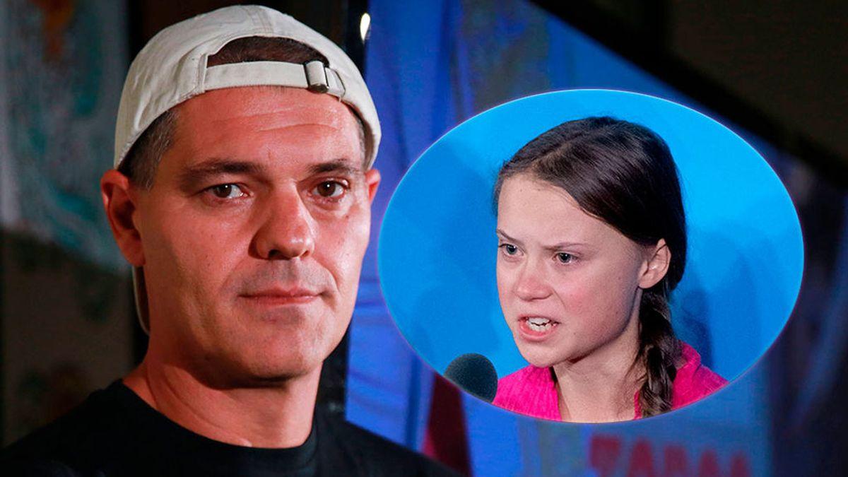Frank Cuesta con Greta Thunberg