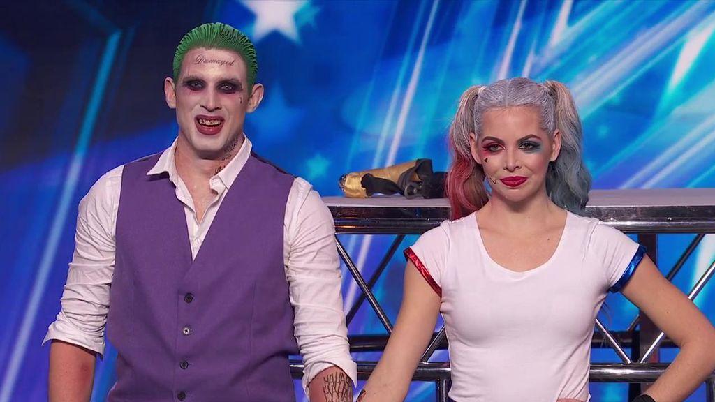 El dúo Ángeles sobrevuela patinando el escenario de 'Got Talent' con su número de 'El escuadrón suicida'