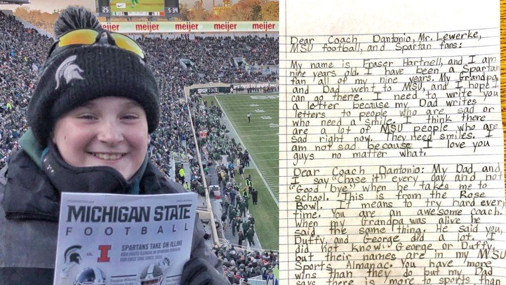"""La carta de un niño de 9 años que hace reflexionar al mundo del deporte: """"No estoy triste porque os amo pase lo que pase"""""""