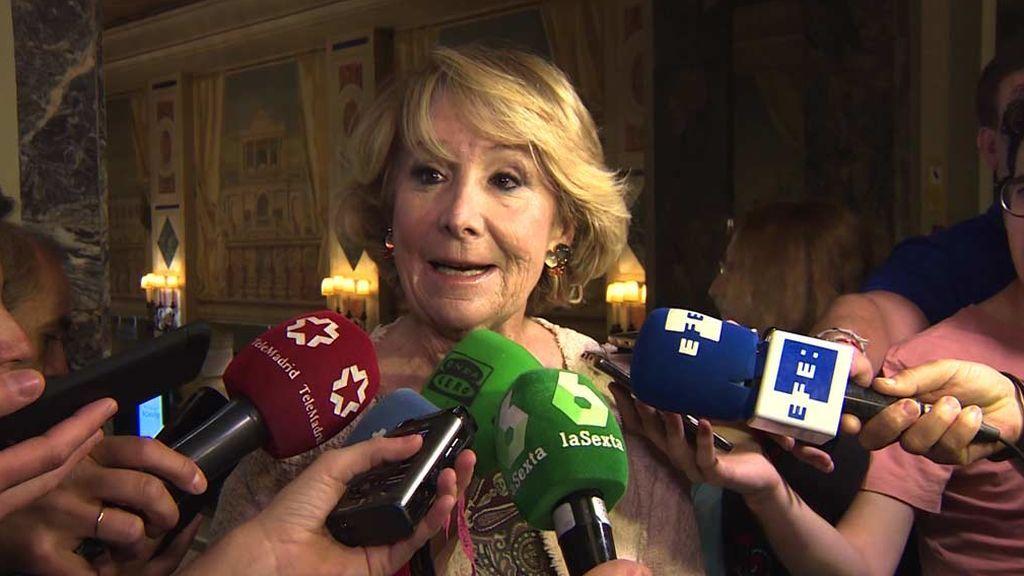 Esperanza Aguirre pide al PP que deje gobernar a Sánchez en solitario
