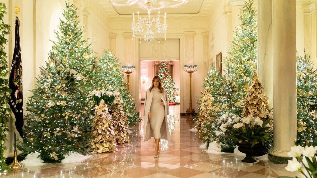 Melania Trump vuelve a sorprender con su decoración de la Casa Blanca por Navidad