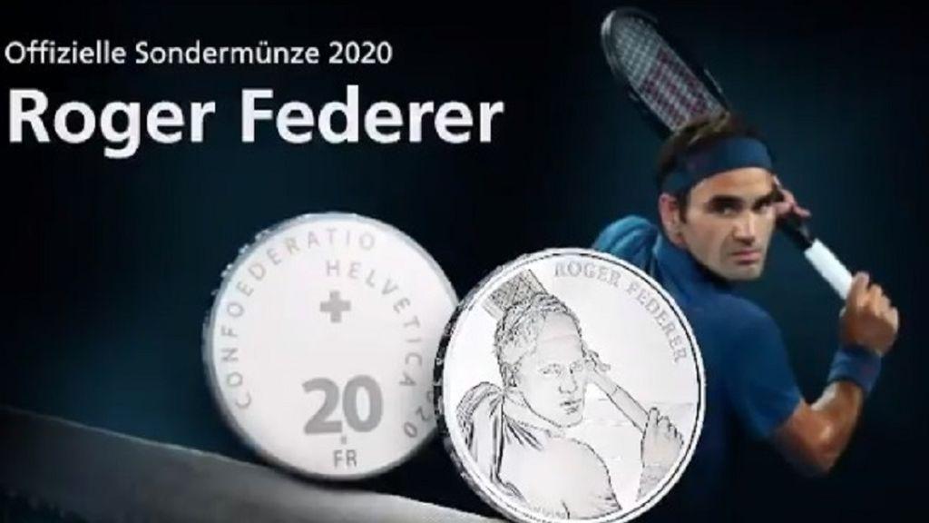 Suiza acuñará monedas con la cara de Federer