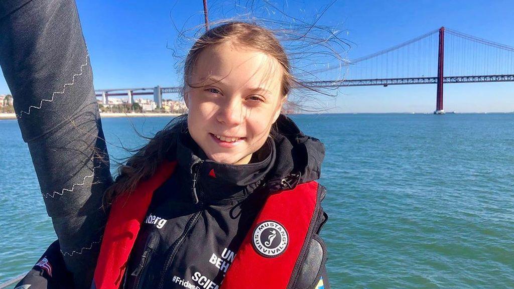 Greta Thunberg, durante su viaje en catamarán hacia la Cumbre del Clima