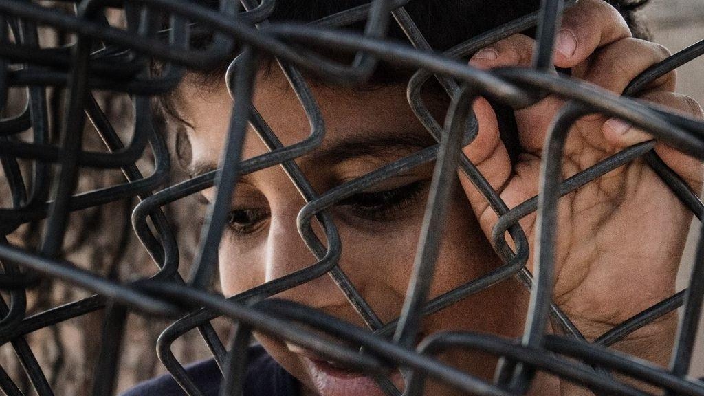 Refugiados en el campo de Moria