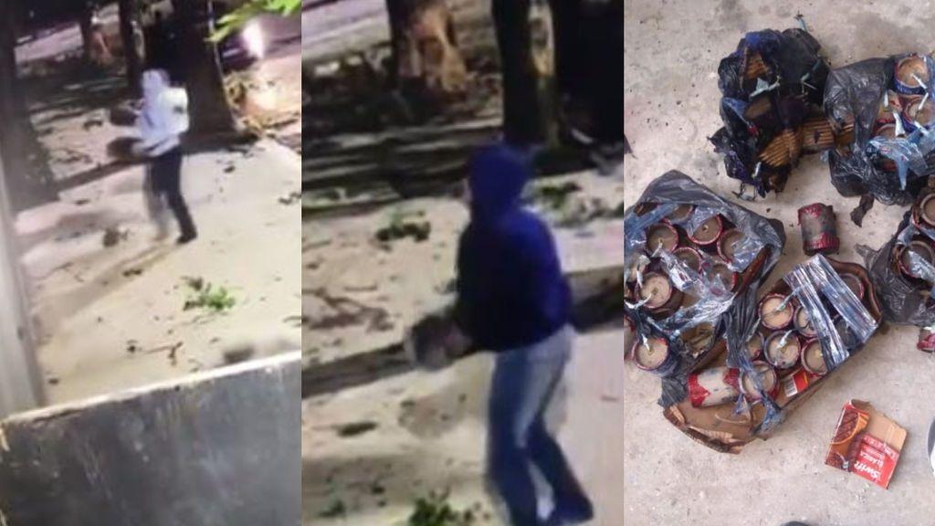 Lanzan artefactos explosivos al nuevo estadio de Estudiantes de la Plata y las cámaras de seguridad captan el momento