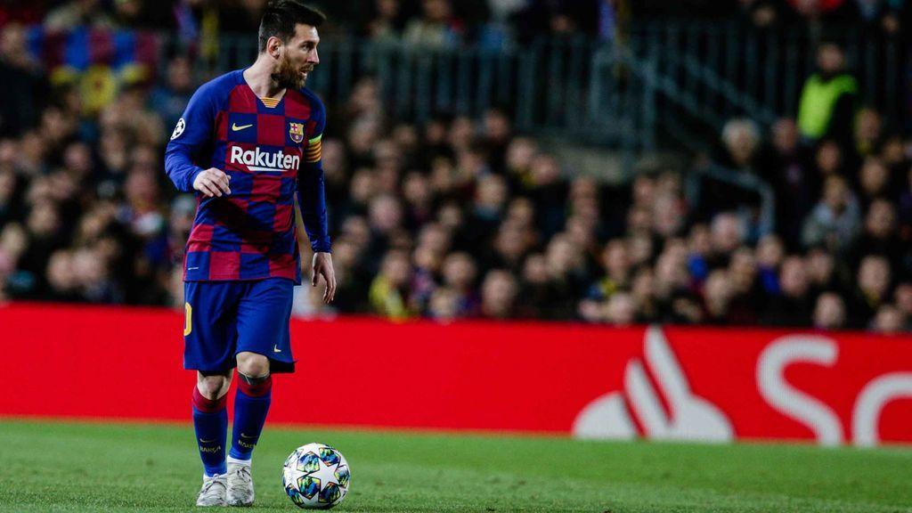Messi, en un partido en el Camp Nou