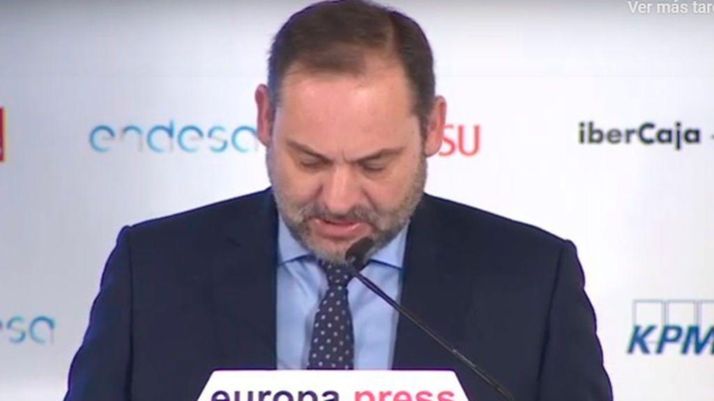 """Ábalos aplaca a ERC: """"Se mantiene todo"""" en la negociación"""