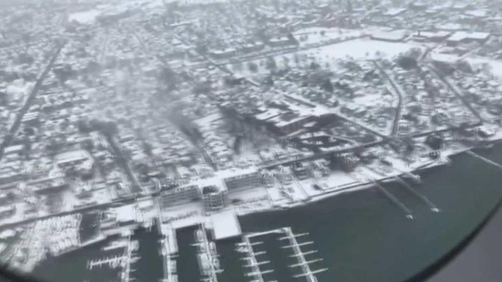 La nieve complica la vuelta a casa tras las vacaciones en EEUU