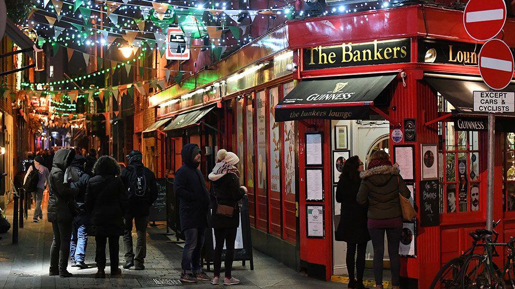 Pub Irlanda en Navidad