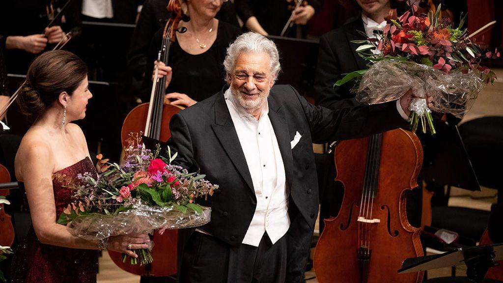 Plácido Domingo, tras un concierto en Hamburgo.