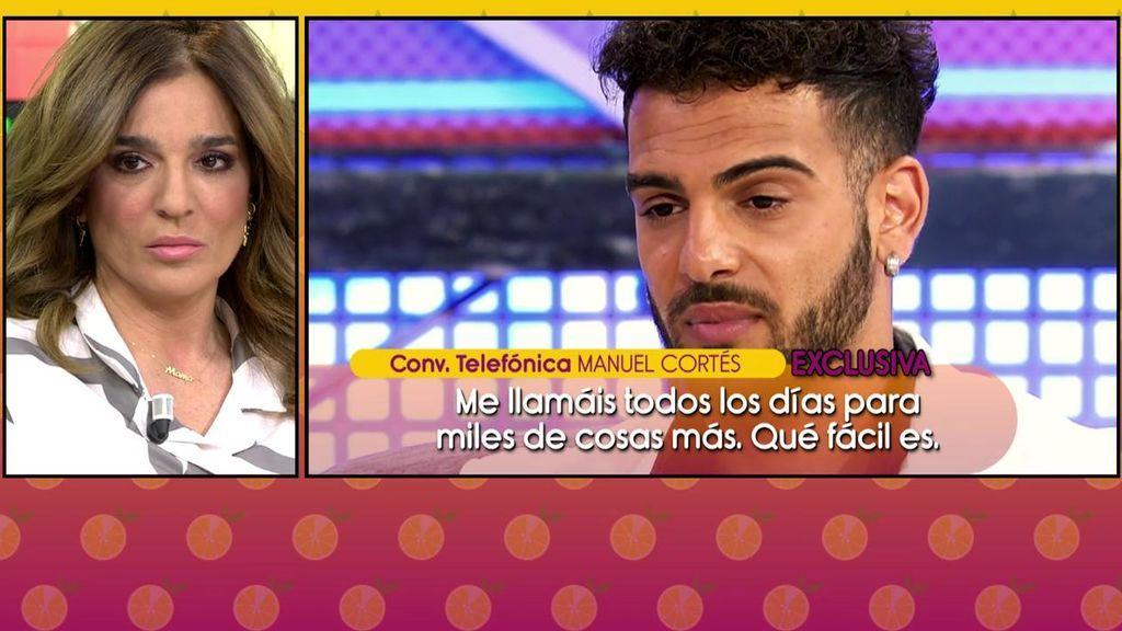"""Manuel Cortés muy enfadado con 'Sálvame': """"Si hacéis daño a mi madre, me lo hacéis a mí"""""""