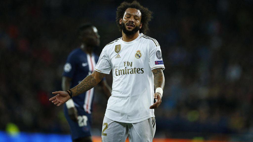 Marcelo sufre una lesión en el sóleo y es duda para el Clásico del 18 de diciembre
