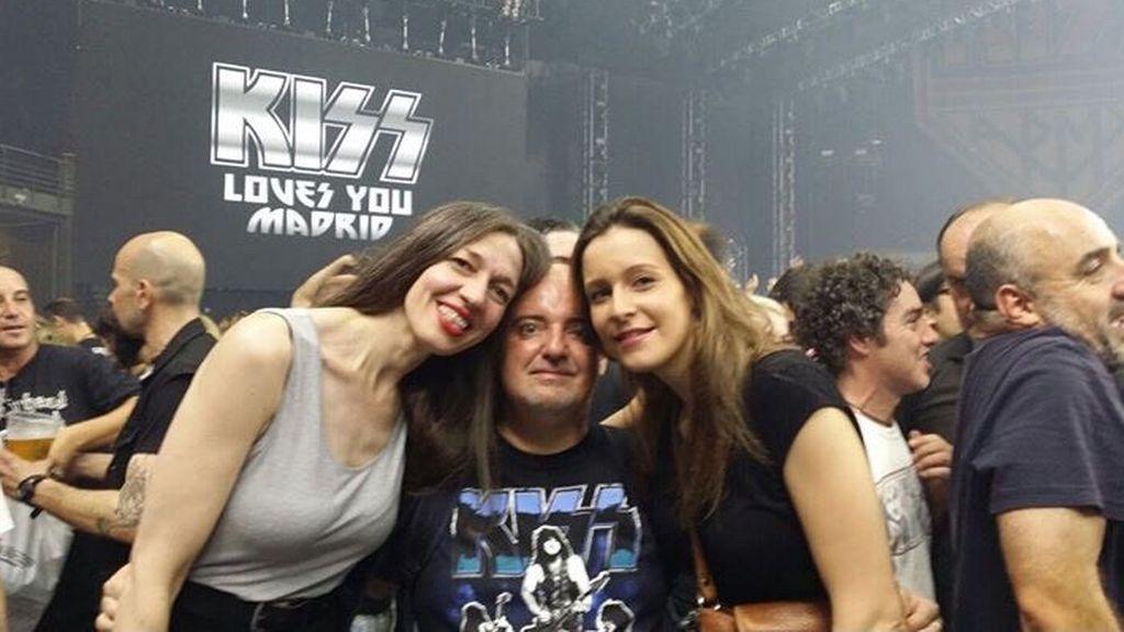 Arancha en un concierto de Kiss