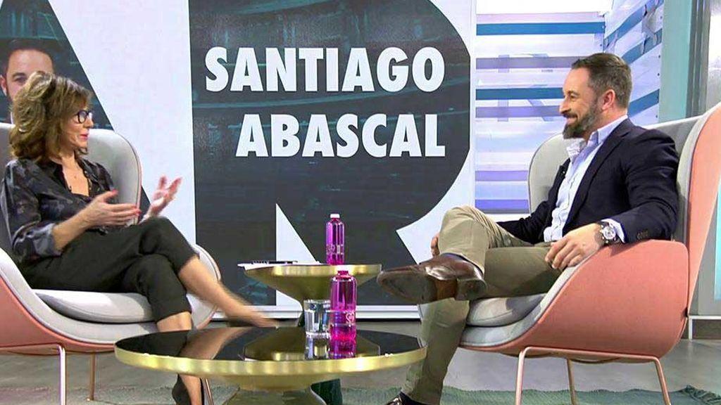 La entrevista de Santiago Abascal en 'El Programa de Ana Rosa', completa