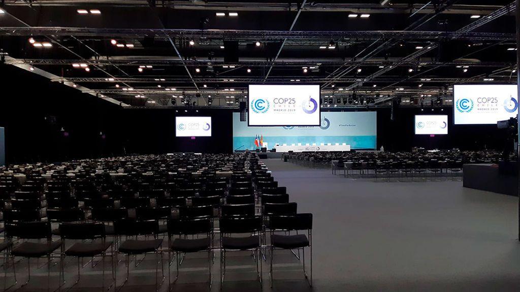 Uno de los dos plenarios de la Cumbre del Clima de Madrid