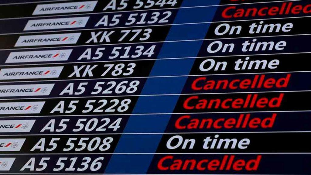 23 vuelos cancelados por la huelga general en Francia