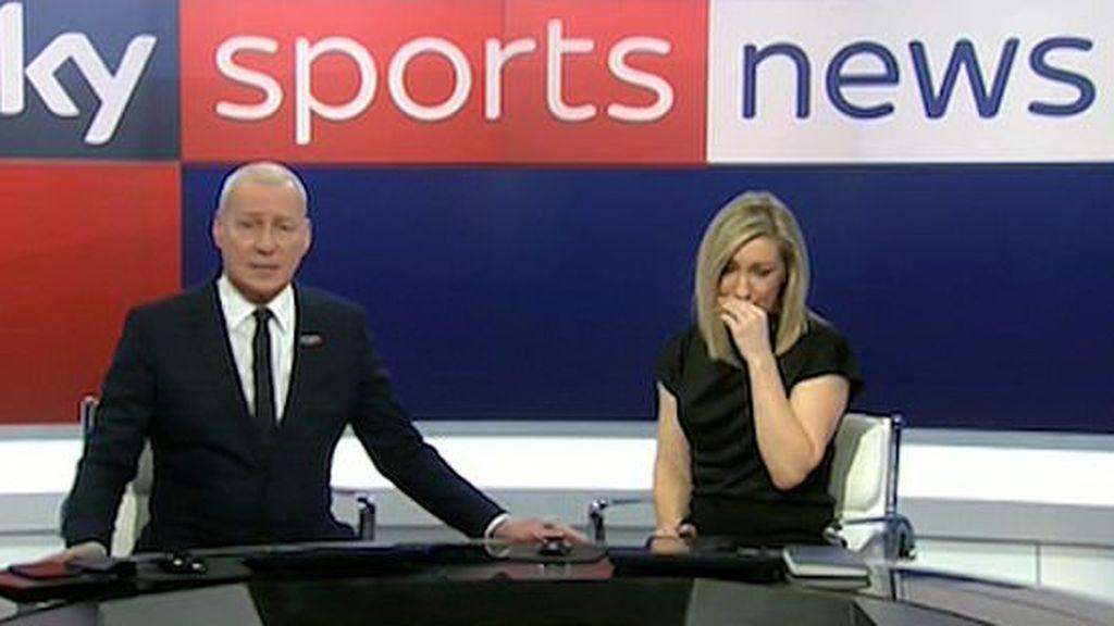 Una presentadora rompe a llorar al anunciar la muerte de Bob Willis, leyenda del criquet
