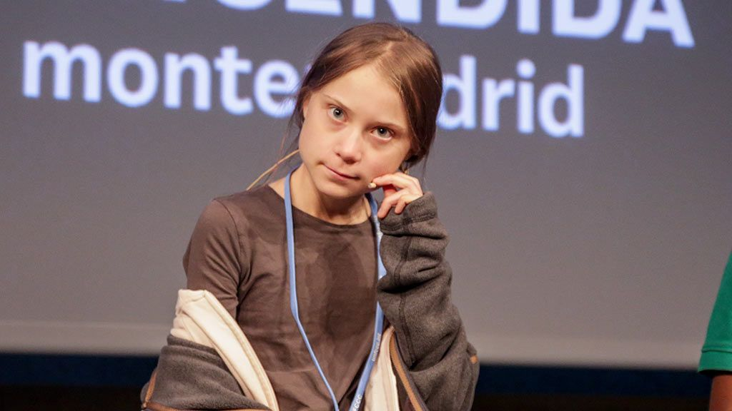 Greta Thunberg en rueda de prensa celebrada en la Casa Encendida de Madrid