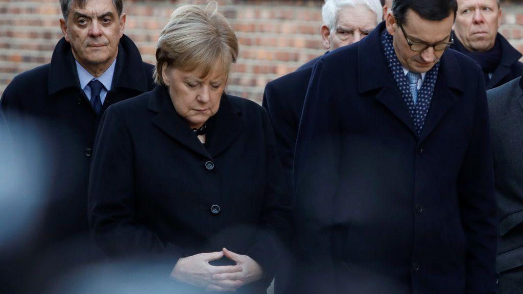 Merkel en Auchwitz