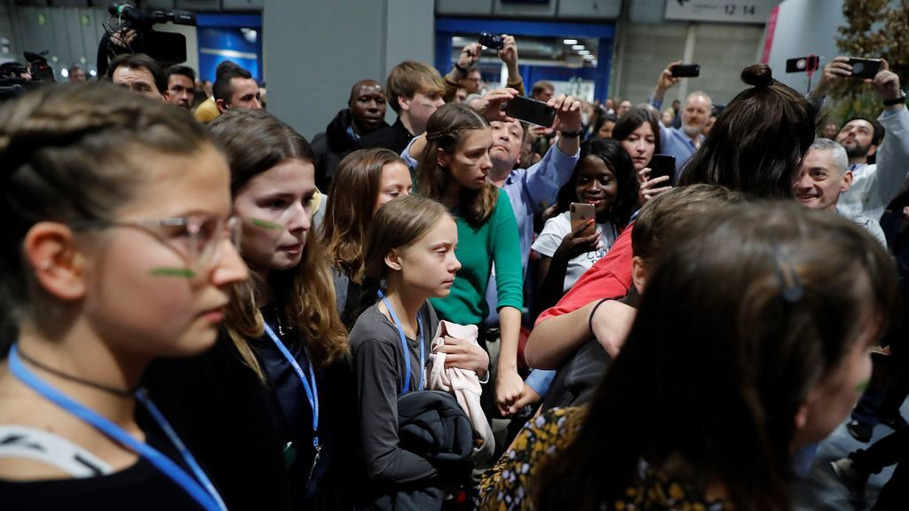 Greta Thunberg llega a Madrid para participar en la Marcha por el Clima