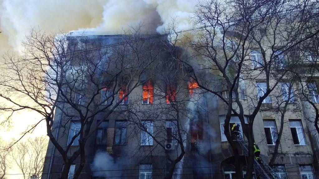 Al menos cinco muertos y 31 heridos por un incendio en un centro de formación de Ucrania