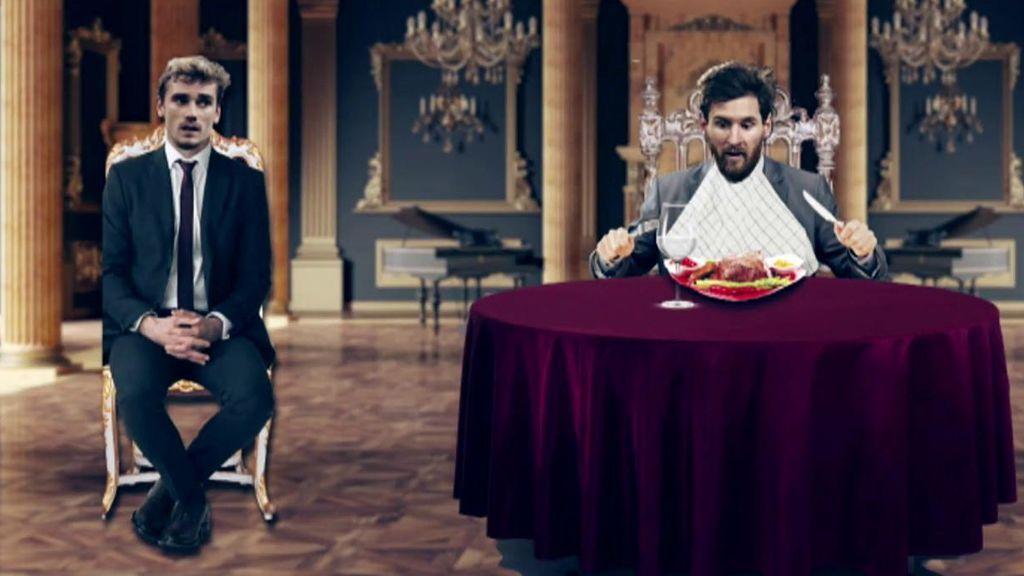 Griezmann, convencido de que puede sentarse a comer en la mesa de Messi