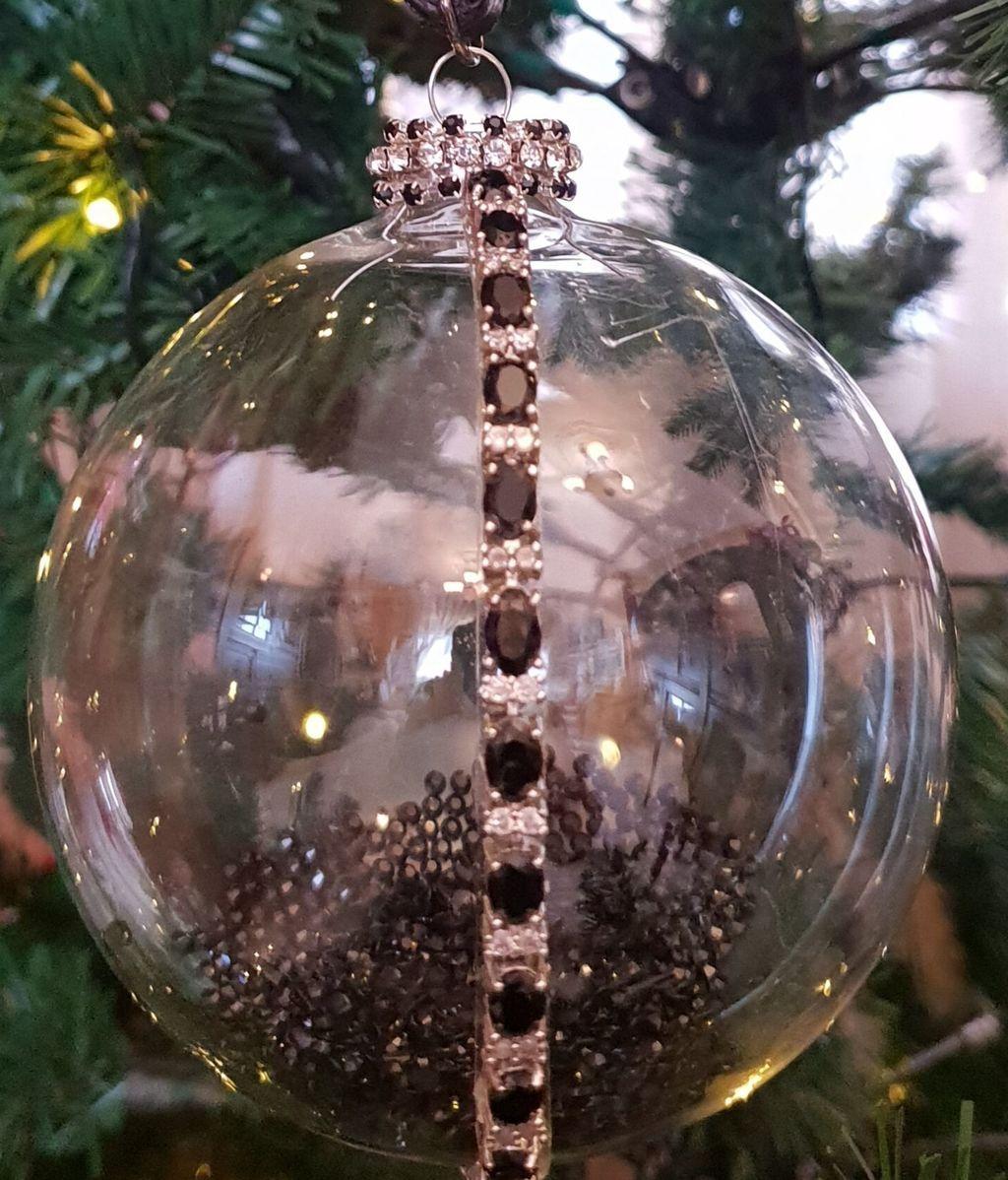 arbol navidad diamantes negros