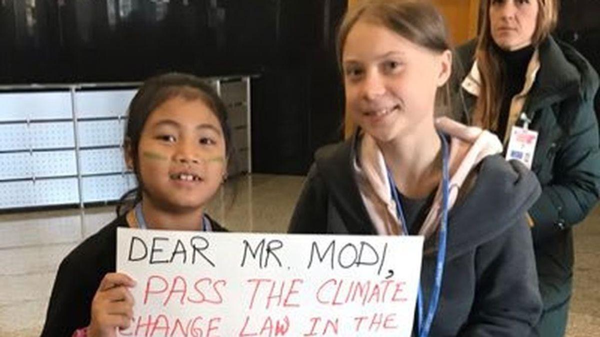 Licypriya Kangujam, la 'Greta Thunberg' india: con 8 años ha dejado la escuela para participar en las protestas