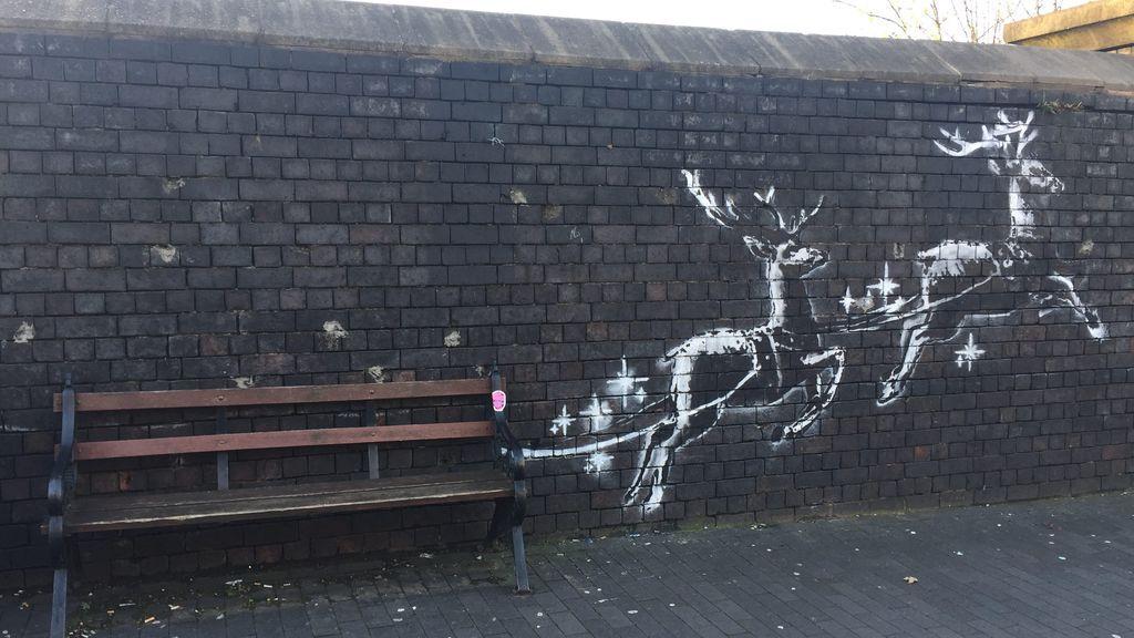 Bansky denuncia la situación de los sintecho en una nuevo mural