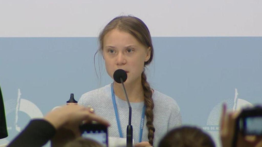 En  directo: rueda de prensa de Greta Thunberg en la COP25