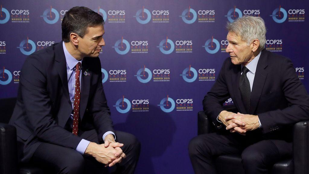 Pedro Sánchez se reúne con Harrison Ford y otras importantes personalidades