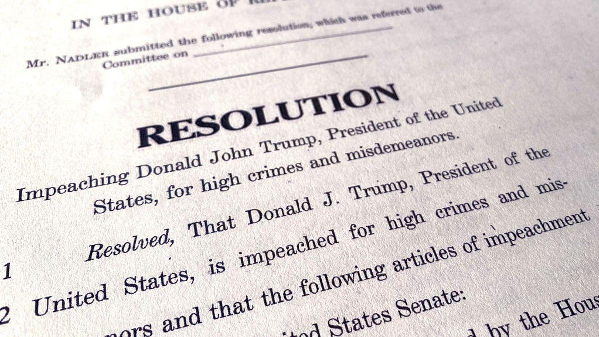 La Cámara de Representantes acusa a Trump de abuso de poder y obstrucción al Congreso en el 'impeachment'