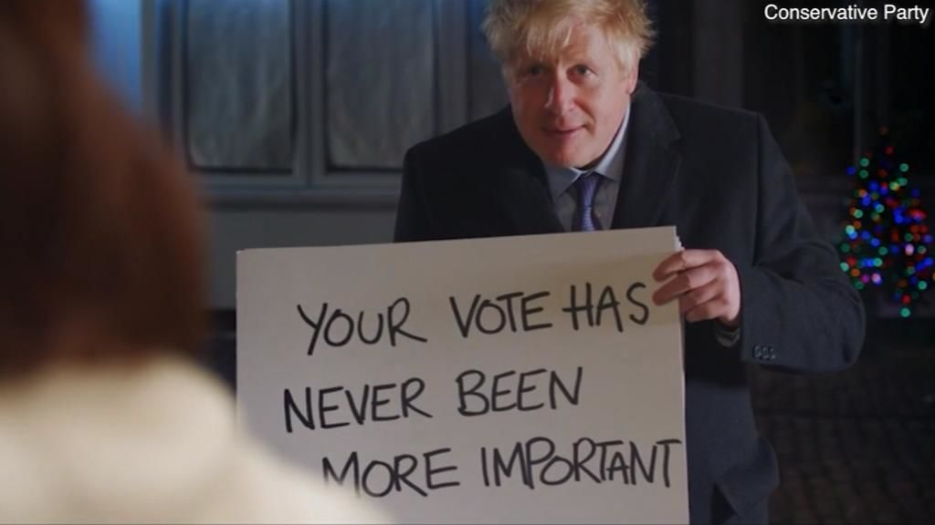Johnson parodia en campaña 'Love Actually'