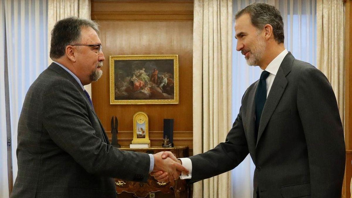 El diputado de Foro Asturias con el rey en Zarzuela
