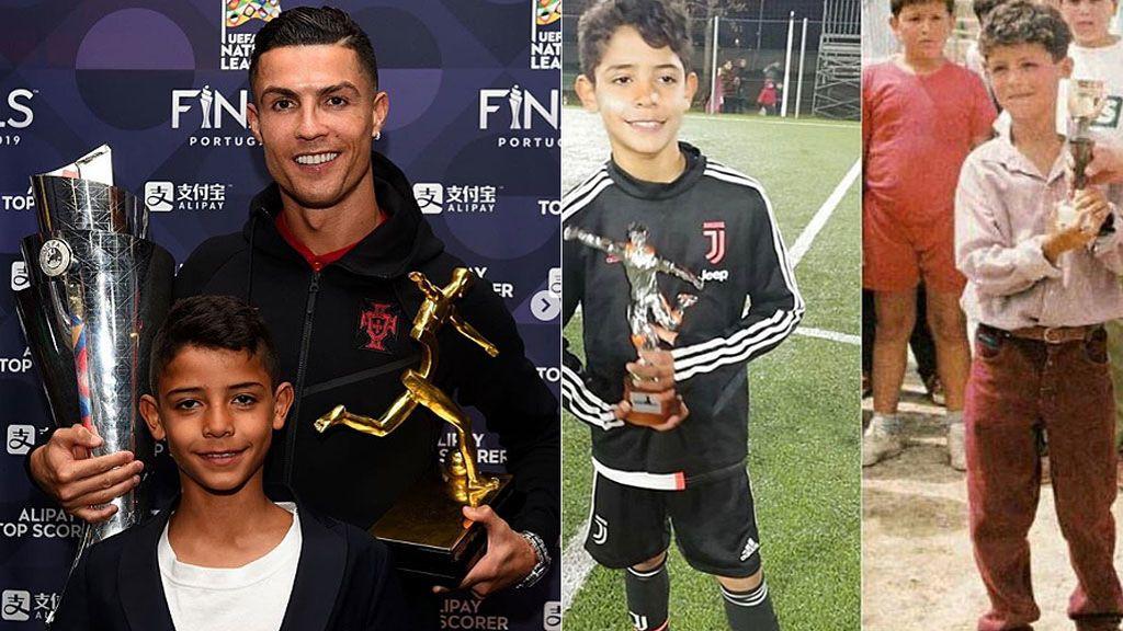 Diferentes orígenes, misma sangre: Cristiano jr, nombrado mejor delantero en un torneo con la Juventus