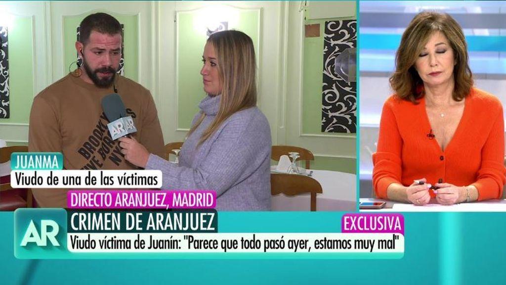 El momento en el que disparaban a la víctima de Aranjuez