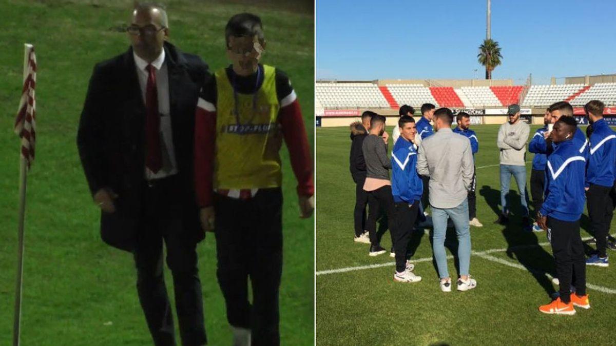 """El Linense responde en un comunicado a la acción de su jugador con el recogepelotas y condena la """"actitud provocadora"""" de jugadores del Algeciras"""