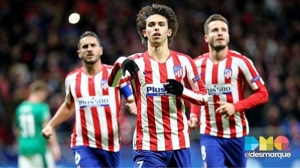 Joao Félix celebra su gol en el Atlético-Lokomotiv