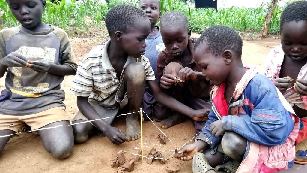 La imaginación y creatividad de los niños en los campos de refugiados