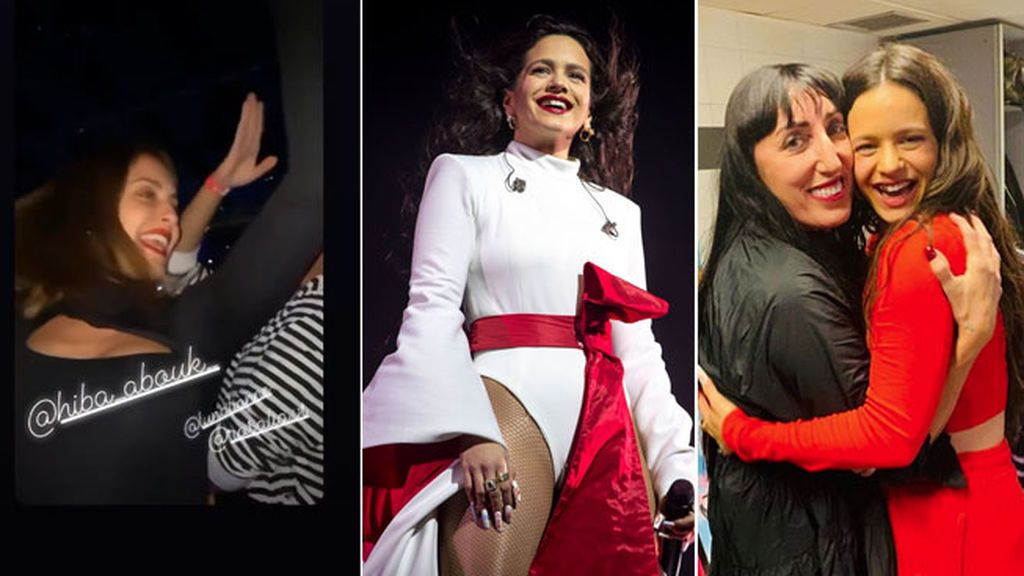 Hiba Abouk y su duende flamenco moviendo la barriga y mas intrahistoria vip del concierto de Rosalía