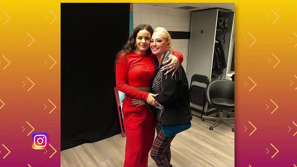 Belén Esteban lo da todo en el concierto de Rosalía y cuenta su amistad