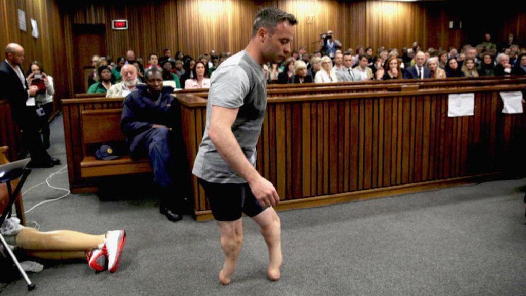 El atelta Oscar Pistorius durante el juicio