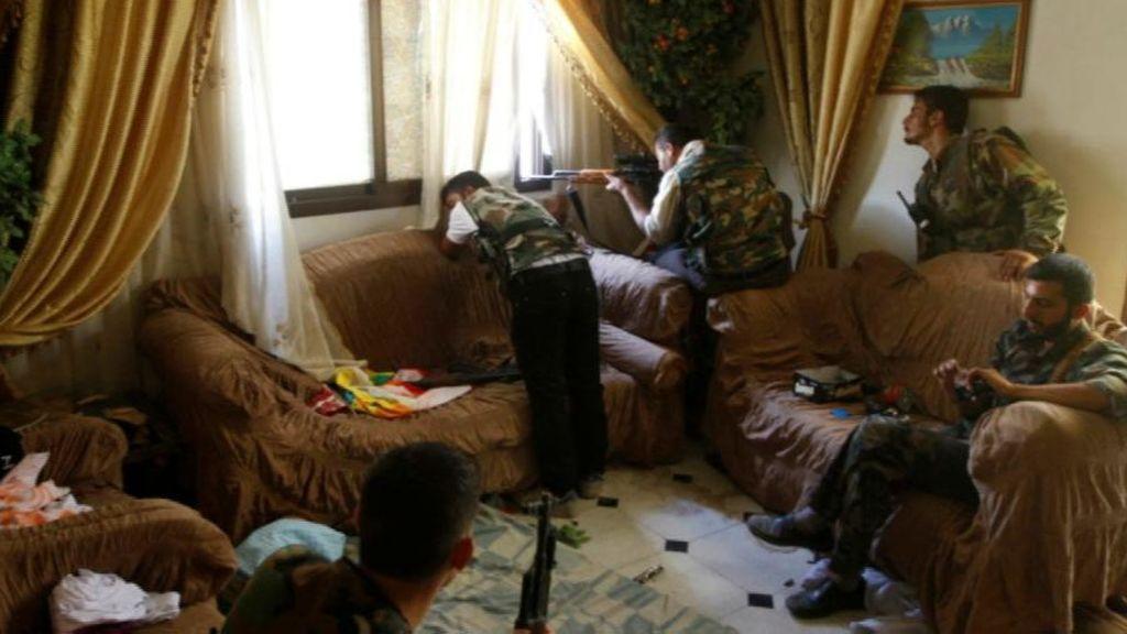 Un salón como trinchera en Alepo
