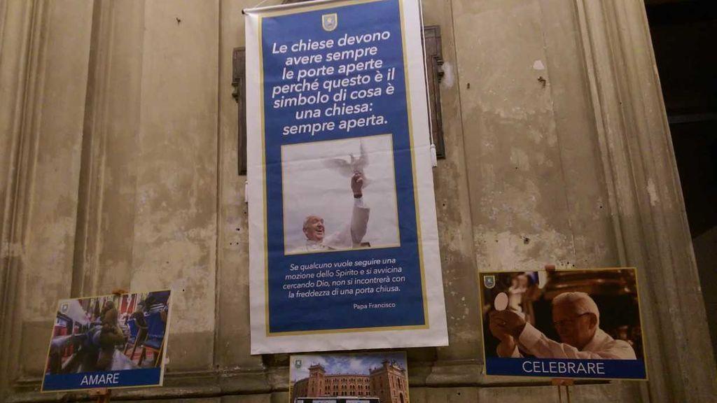 La primera noche en la iglesia del padre Ángel en Roma