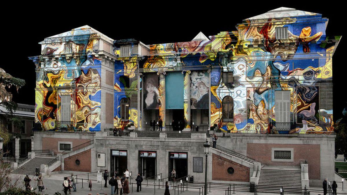 La fachada del Museo del Prado se convierte en un vídeo mapping para cerrar el bicentenario
