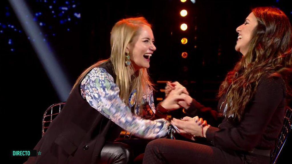El cariñoso reencuentro de Alba e Irene Junqera
