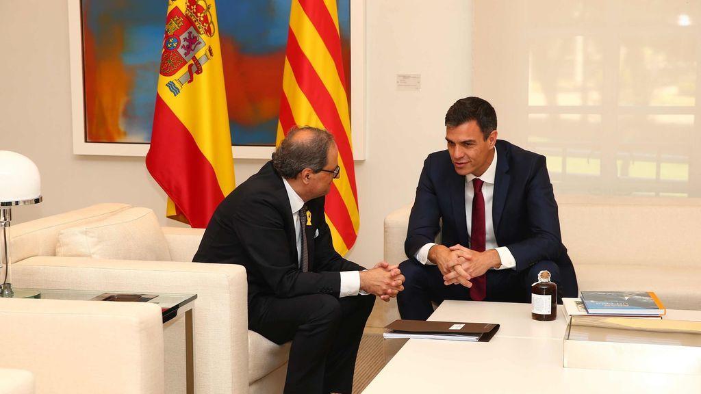 Pedro Sánchez y Quim Torra, en Moncloa